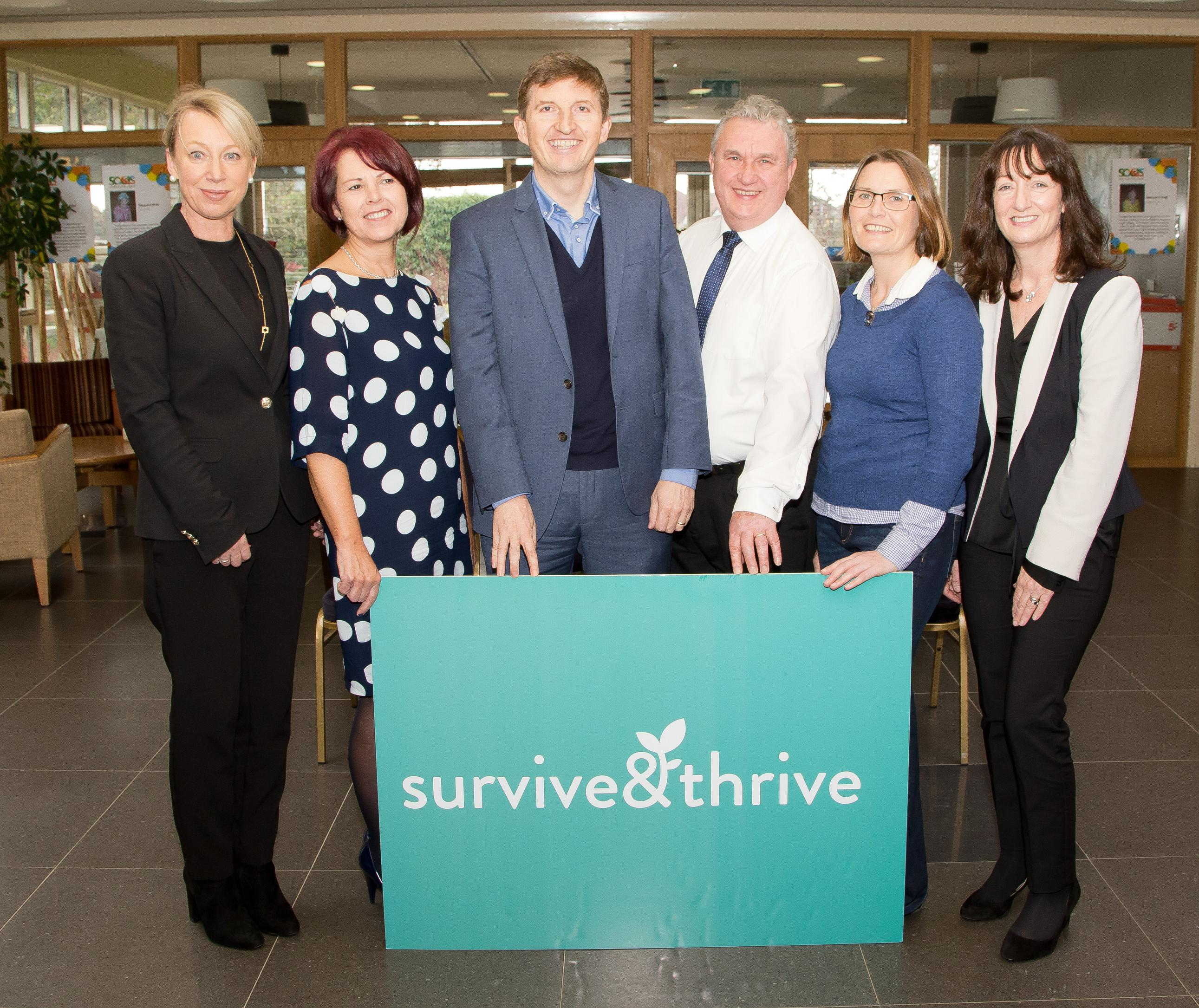 attending were Suzanne Ennis, Astellas Helen Forristal, Marie Keating Foundation, Dr. Mark Rowe, guest speaker, Tom Mullane, course facilitator,Grainne Delaney, complimentary therapistand and Martina Dempsey, Aestellas.Photo: John Power