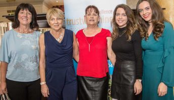 Attending the Ladys Lunch in the Park Hotel in aid of the SOLAS Cancer Support Centre were Caroline Young, Bernadette O'Brien, Maria Allen, Kelly and Fawn Duggan. Photo Sean Byrne