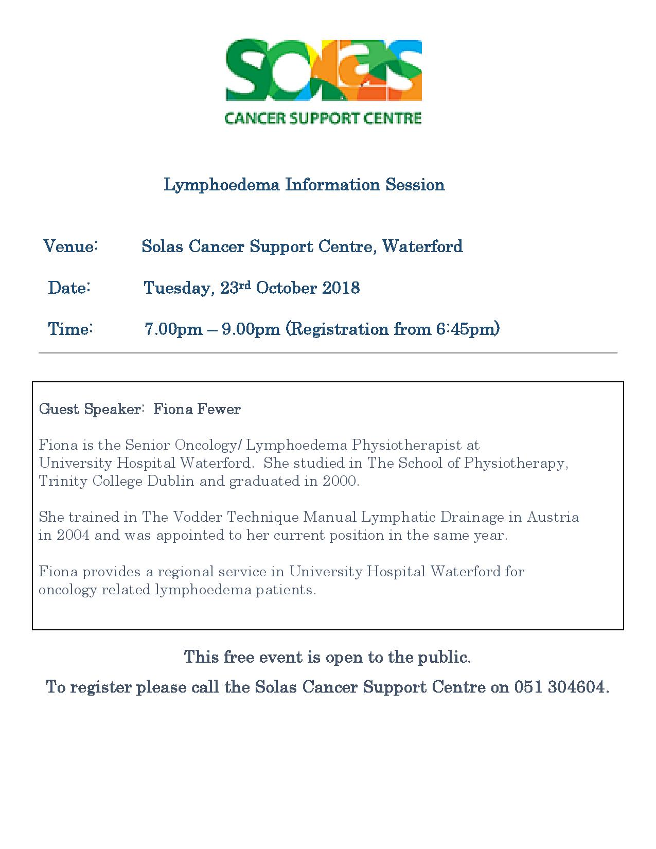 Lymphoedema Information Session - 23rd October 2018-page-001